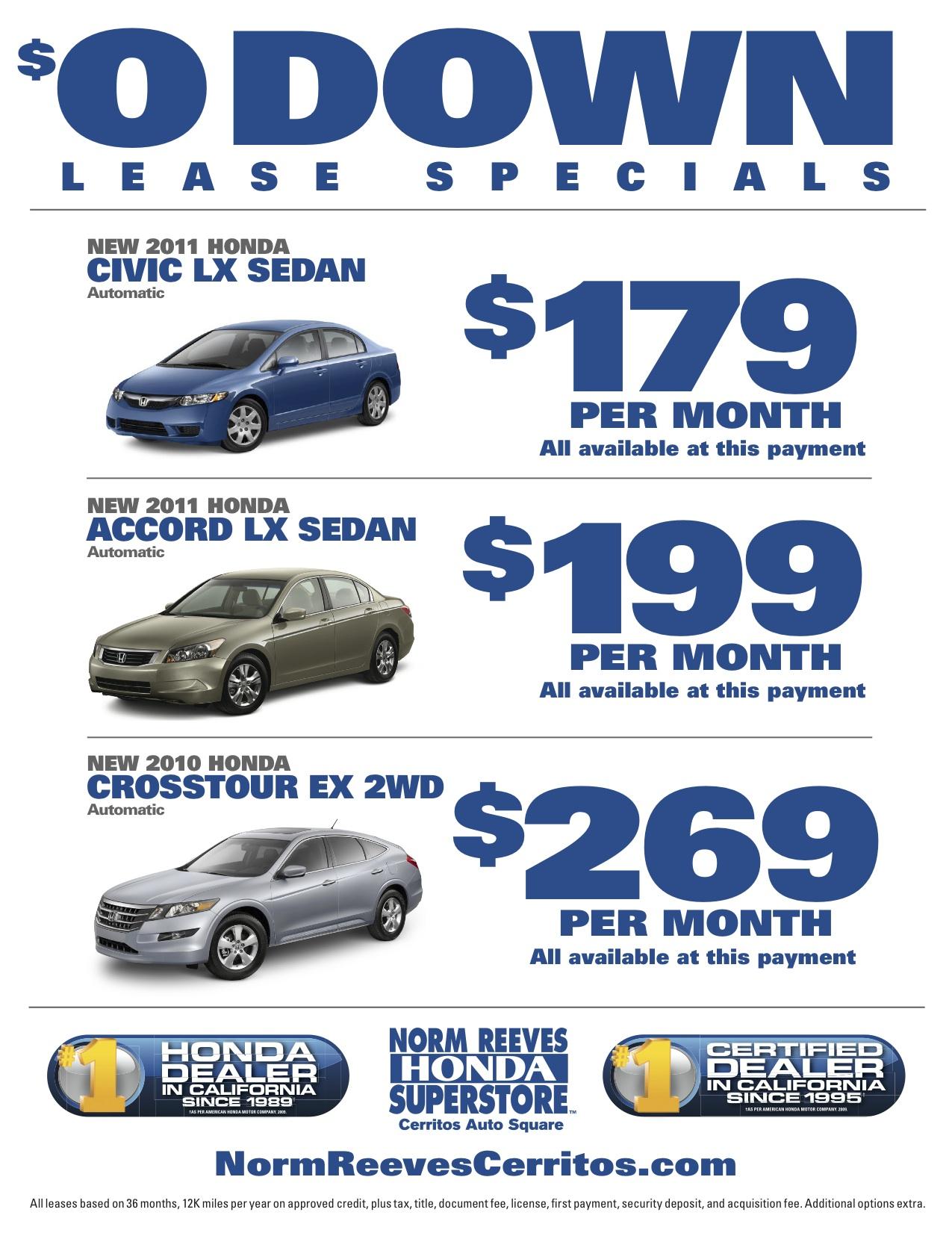 Honda crv 0 down lease deals autos post for Honda lease payment